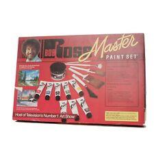 VINTAGE Bob Ross Master Paint Set w/ VHS UNUSED! Collectible Oil Paint Kit 1994!