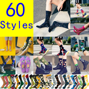 60Styles High Quality Men Women Harajuku Design Creative Funny England Socks Sox