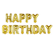 "13Pcs ""HAPPY BIRTHDAY"" Letters Foil Balloons For Birthday Party Decoration 16"""