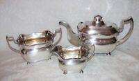 Antique Irish Georgian Sterling Silver Tea Set Dublin 1813