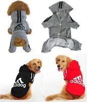 Puppy Small & Large Pet Dog Cat Adidog Clothes Jacket Shirt Hoodie Vest Jumpsuit