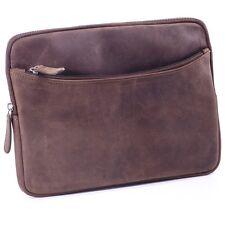Tasche Hülle für Tablet Netbook ipad bis 11.6 Zoll  Echt Leder braun
