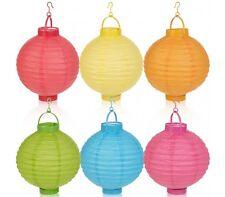 Lanterne in carta luce led 5 pezzi illuminazione interno ed esterno