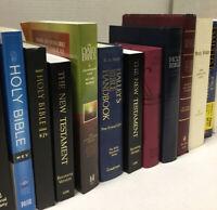 Lot of 10 NEW Testament Bibles NIV KJV KING JAMES Full Canon Books MIX UNSORTED