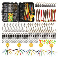 Fishing Accessories Kit Swivels Hooks Lures Sinkers Beads Texas and Carolina Rig
