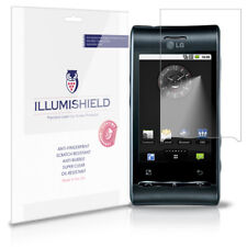 iLLumiShield Phone Screen Protector w Anti-Bubble/Print 3x for LG Optimus GT540
