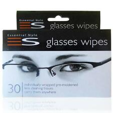 30 Optical Lens Smear Free Wipes Spectacle Glass Glasses Cleaners