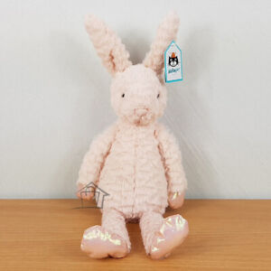 NEW Jellycat Dainty Bunny 33cm Soft Pink Plush Rose Gold Ballet Dancer
