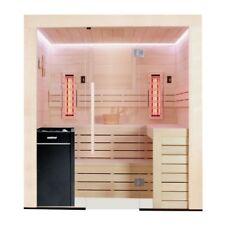 EO-SPA Sauna E1202A-IR Kombi Pappelholz 267x198 9kW Vitra
