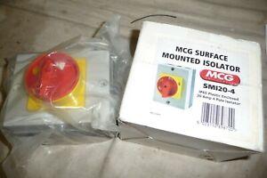 Electrical surface mounted isolator MCG SM120-4 IP65 20 amp 4 pole