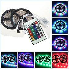 10M=2x5M 3528 SMD RGB 600LEDs LED Strip Lights Lamp & 24Key IR remote Controller