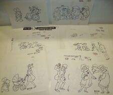 21 Hanna-Barbera PADDINGTON BEAR Original Sketches Art Drawings LOT 1989 Jan '90