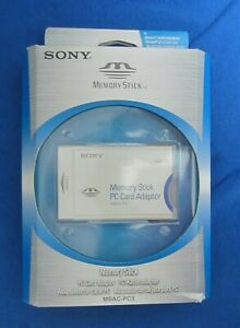 Sony Memory Stick PC Card Adapter (MSAC-PC3) In Package Brand New Free Shipping