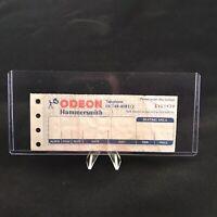 Metallica Hammersmith Odeon London England Concert Ticket Stub October 11 1988