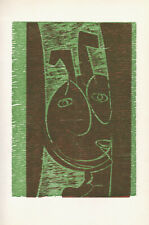 HAP GRIESHABER - FAUN III - original limited edition wood cut from 1970
