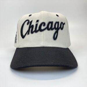 Vintage NOS Chicago White Sox Drew Pearson ScrIpt White Dome Snapback Hat Cap