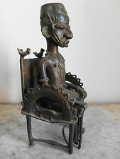 Bronze YOROUBA  ART TRIBAL Premier AFRICAIN ARTE AFRICANO AFRIKA KUNST 39cm
