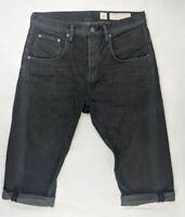 ALLSAINTS MENS Size W 32 CROPPED GUNRAY Runner Black Jeans Shorts