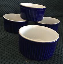 Emile Henry France Ramekin Dishes Custard Cup Blue 40.08 Made France Set Of 4