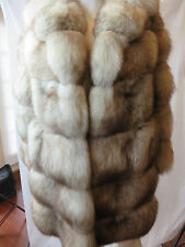 Gunther Jaeckel Furs for Bonwit Teller  3/4 length blue fox fur coat horizontal