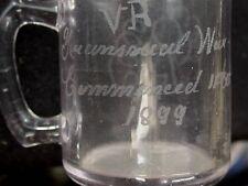 2nd Boer War Souvenir Glass Etched VR War Transvaal 11 Oct 1899 Slight Amethyst