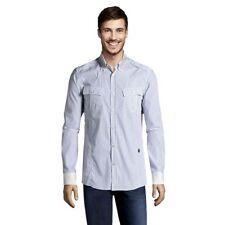 LOVE MOSCHINO Men's Skinny Fit Shirt White/Blue Stripe. NWT. Sz:XXXL Ret:$345
