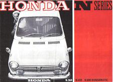 Honda N Serie N360, N600, hondamatic 1968-69 Original folleto de ventas