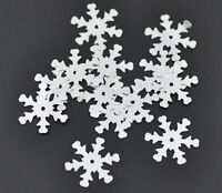 10g Over 200 Silver Christmas Snowflake Sequins Sewing   19x17mm Free P&P