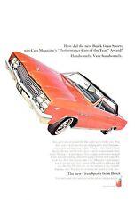 1965 Buick Skylark Gran Sport GS Wildcat Motor 2-door PRINT AD