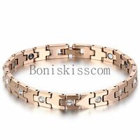 Women's Charm Tungsten Carbide Health Powerful Bracelet Magnetic Therapy Chain