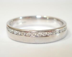 18ct White Gold 0.63pt  Diamond Half Eternity Ring with £1,900.00 Valuation
