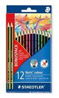 Staedtler BONO Paquete - Noris color 12 Paquete con 2 Noris eco grafito Lápices