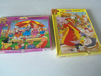 2 CHILD'S VINTAGE  VICTORY WOODEN JIGSAW PUZZLES- BOXED