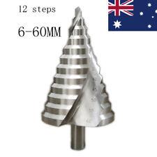 6-60MM 12 Step Nitrogen Coated HSS Spiral Groove Step Cone Drill Hole Cutter Bit