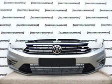 VW PASSAT GTE 2016-2017 FRONT BUMPER IN SILVER FULLY COMPLETE [V349]