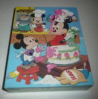 SEALED Walt Disney's Mickey Mouse 100 Piece Children's Jigsaw Puzzle 1986 vtg