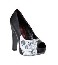 METAL MULISHA MAIDENS Woman's HEARTLESS PUMPS Shoes Heels Black WHITE Size 7