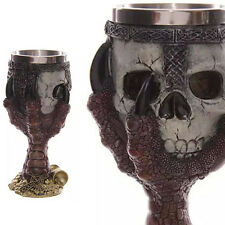 Ossuary Style Skelett Hand Wein Kelch Knochen Schädel Rüstung Cup Orc Skull Cup