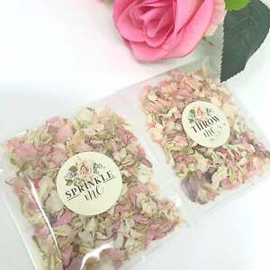 Pink Dried Petals Natural Biodegradable Wedding Confetti Flower Petal Bags PACKS