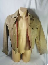 True Vintage That Leather by Block Cowhide Jacket Men's Xl Rayon Lining