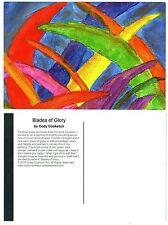 "Blades of Glory Abstract Rainbow Colored Grass Fine Art Print 4"" x 6"" Postcard"
