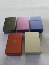 "PLASTIC CIGARETTE CASE , BOX FOR NORMAL SIZE CIGARETTES , ""PUSH"" OPENING ,"
