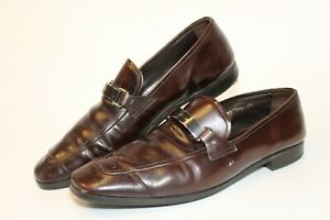 Prada Milano Mens US 10.5 UK 9.5 Leather Harness Loafer Italy Made Shoes 2DC 100