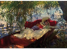 Wentworth Wooden Jigsaw Puzzle 250 Pieces - Sargent - Lady in Punt