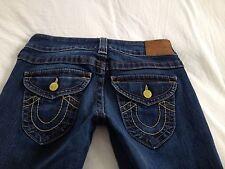True Religion Women's Billy Straight Leg Flap Pocket Jeans Size 27 Inseam 33