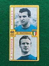 CALCIATORI 1969-70 NAZIONALE ITALIA PAROLA MAZZOLA , Figurina Panini (NEW)
