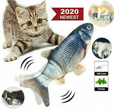 Usb Pet Cat Fish Toy Electronic Realistic Charging Simulation Cat Toy Jump Fish