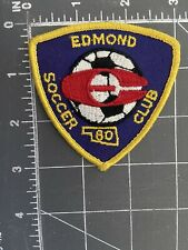 Vintage Edmond Soccer Club Patch Shield Crest 80 1980 SC Oklahoma OK Football FC