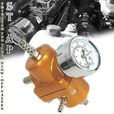 Jdm Universal Adjustable 1 To 140 Psi Fuel Pressure Regulator With Gauge Gold