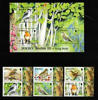 S35666 Jersey 2009 MNH Song Birds 6v + S/S